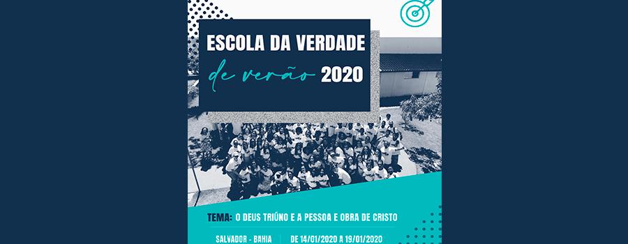 Escola da Verdade de Verão de 14/01/2020 a 19/01/2020 | Espaço Litoral Norte – Salvador – Bahia